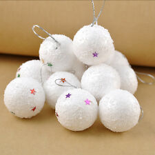New 6pcs Fake snowballs for Christmas decorations or throwing and display  HK