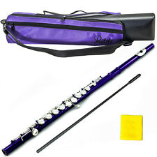 Metallic Purple Flute w Silver Keys 2016 New Model Case Bag Accessories