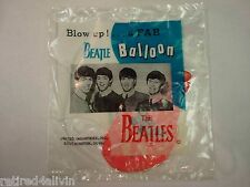 BEATLES VINTAGE 1964 BALLOON SEALED IN PKG (HOT PINK)UNITED INDUSTRIES,CONN.