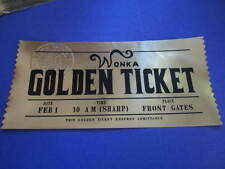 Charlie & the Chocolate Factory Golden Ticket (modern)