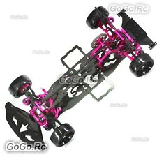 NEW!! CNC & Carbon Sakura D4 1:10 AWD 4WD OP EP RC Car Frame Kit with 4 Wheels