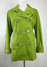 Boden Womens Green Cotton 60's Retro Vintage Style Pea Coat Jacket Sz US 18 L XL