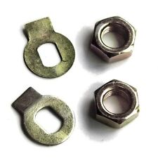 2x Nut+lock washer tab for Weber Carburetor IDF DCOE DCNF DCO DCNL spindle shaft