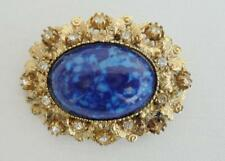 STUNNING VINTAGE 1950s 50s  SIGNED SPHINX AGATE BROOCH/PIN