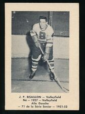 1951-52 Laval Dairy (QSHL) #71 JEAN-PAUL BISAILLON (Valleyfield)
