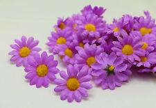 NEW 20PCS Violet Gerbera Daisy Heads Artificial Silk Flowers Wedding Dia 4cm