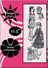 Vintage Barbie Crochet Pattern Design 7511