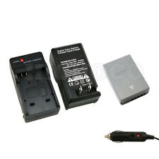 1600mAh BLN-1 BLN1 Battery + Wall + Car Charger for Olympus OM-D E-M5 EM5