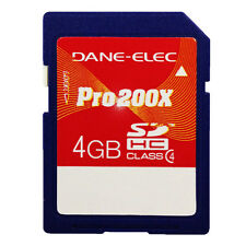 Dane-Elec 4GB Pro 200X Class 4 SDHC SD 4 GB Flash Memory Card - NEW Sealed