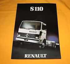 Renault S110 1987 LKW Prospekt Truck Brochure Camion Catalogue Prospetto S 110