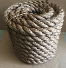 "1-1/2"" X 100' MANILA ROPE Boat docks Tree Farm Craft FITNESS Nautical UNDULATION"