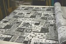 GREYSCALE BATIK FLORAL DESIGNER OUTDOOR UPHOLSTERY FABRIC SOLD BY THE YARD