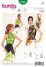 Simplicity Burda Sewing Pattern ladies womens retro look vintage tops 6968