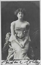 Stage Star and Movie Character Actress CONSTANCE COLLIER Very Early Signed Photo