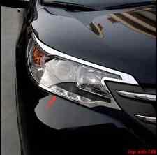 Chrome Front Headlights Head light lamp Cover Trim For Honda CRV CR-V 2012- 2014