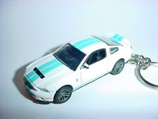 NEW 3D WHITE 2011 FORD MUSTANG SHELBY GT500 CUSTOM KEYCHAIN keyring key racing