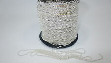 NEW 2M Silver Tone 1mm Metal Ball Round Chain For Necklace Jewelry Making WPC