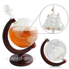 World Globe Decanter For Whiskey Wine Rum Vodka Bottle With Antique Ship
