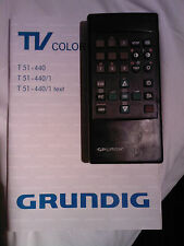 telecomando tv color  tp 621  televisore grunding 21 t51 440 / 1 text