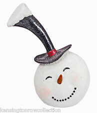 CHRISTMAS DECORATIONS -  SNOWMAN WITH FROSTED TOP HAT