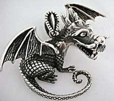 DRAGON KNIGHT WARRIOR SOLID 925 STERLING SILVER GOTHIC MENS PENDANT NEW ROCKER