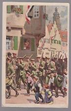 1919 Germany Youth Brigades Picture Postcard  Cover Armed Young Men
