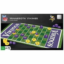 NFL MINNESOTA VIKINGS CHECKERS GAME FOOTBALL FIELD DESIGN NEW