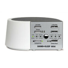 SOUND+SLEEP MINI - Sleep Therapy & White Noise Machine - White (with UK Adapter)