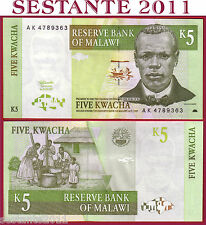 MALAWI - 5 KWACHA 1.7. 1997  first date -   prima data  - P. 36a    - FDS / UNC