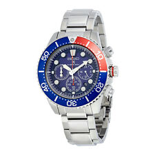 Seiko Solar Diver Blue Dial Chronograph GMT Mens Watch SSC019
