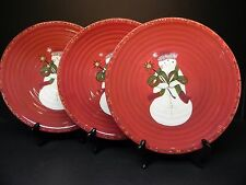 Tracy China Jingle Bell  Snow lady Dinner Plates (set of 3)   ..