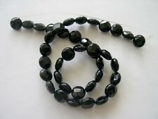Black onyx faceted coin beads 10mm