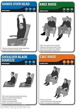 FITDECK TRAVEL 26 Cards Exercises Stretches Plane Seat Reduce Clots Safe 01168