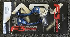 ASV F3 Brake & Clutch Lever Set Blue Short Yamaha YZ125 YZ250 YZ250F YZ450F