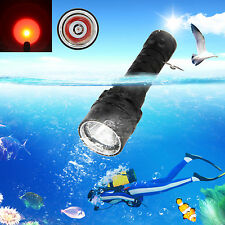 New  Diving  2000LM CREE Q5 RED LED Scuba Flashlight Torch Light Underwater 100m