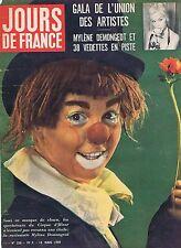 Couverture magazine,Coverage Jours de France 14/03/59 Mylène Demongeot