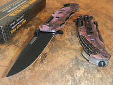 TAC FORCE Spring Assisted Opening PURPLE CAMO Tactical Rescue Pocket Knife