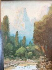 VINTAGE WATER COLOR Painting SIGNED A WESTWOOD 1926 STUNNING CALIFORNIA BEAUTY