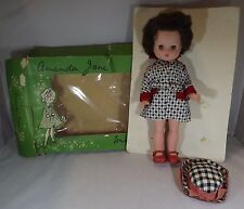 "VINTAGE 1950 Boxed 12 ""crolly AMANDA JANE minifashion vinile doll set abiti"