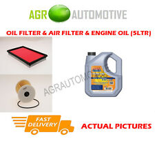 DIESEL OIL AIR FILTER + LL 5W30 OIL FOR NISSAN ALMERA TINO 2.2 114 BHP 2000-03