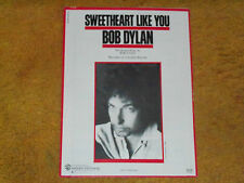 Bob Dylan sheet music Sweetheart Like You 1983 5 pages (VG+ shape)