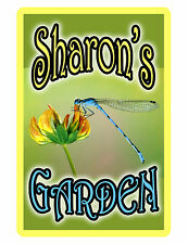 Personalized Garden Sign Printed with YOUR NAME.High Gloss Aluminum NO RUST.drag