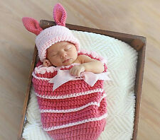 Newborn Baby  Infant Knitted Crochet Costume Photo Photography Prop A109