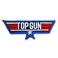 Top Gun US Navy Emblem Military Patch Iron On Topgun Badge Pilot Flight Weapons