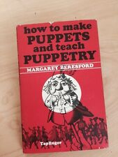 How to Make Puppets, And teach Puppetry,Book