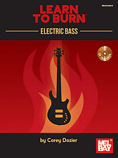 Learn to Burn Electric Bass Guitar TAB Music Book & CD Warm-Ups Scales Chords