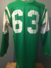 Vintage Football Jersey Durene Nylon Cotton New York Jets Style 60S 70S Home Lg