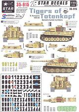Star Decals 1/35 GERMAN TIGER TANKS OF TOTENKOPF Generic Turret Numbers