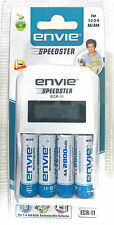 Envie 4x2800Mah NiMH Rechargeable Battery + ECR 11 Speedster Charger