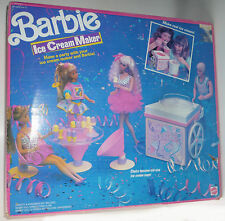 Vintage  BARBIE ICE CREAM MAKER Parts Accessories Original Box Toy FREE SHIPPING